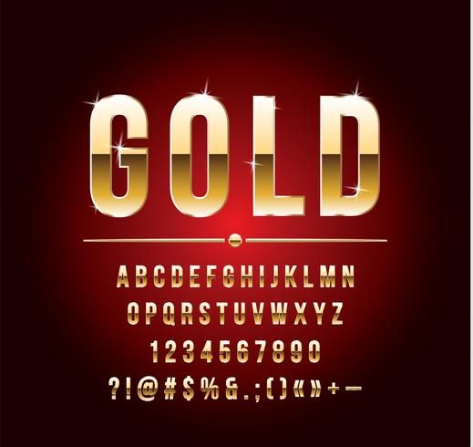 Hoogwaardige goud-effect vector letters. Vector illustratie