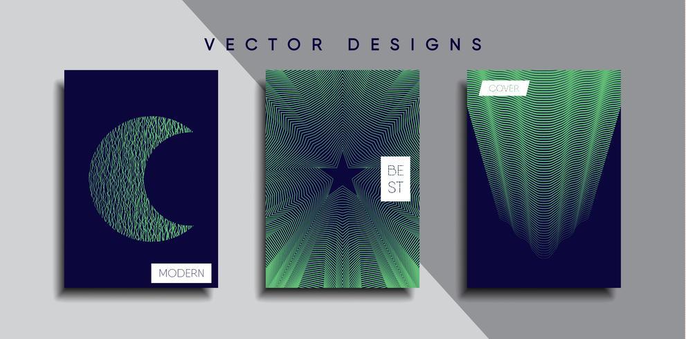 Minimale vectoromslagontwerpen. Toekomstige postersjabloon. vector