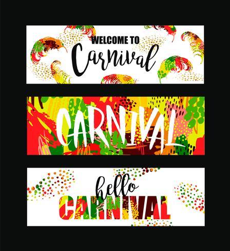 Carnaval. Heldere feestelijke banners trending abstracte stijl. vector