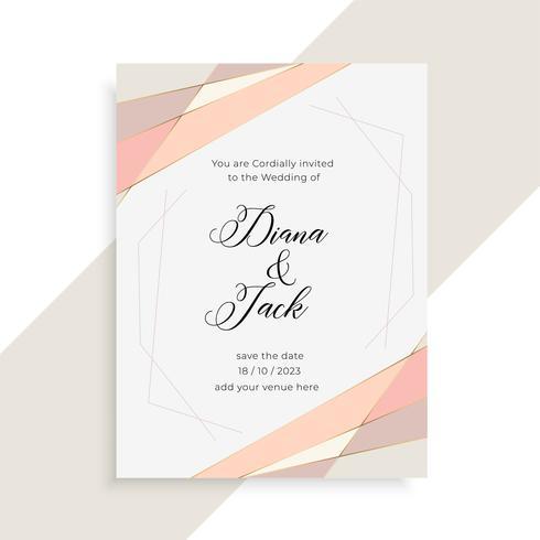 subtle elegant wedding invitation card design