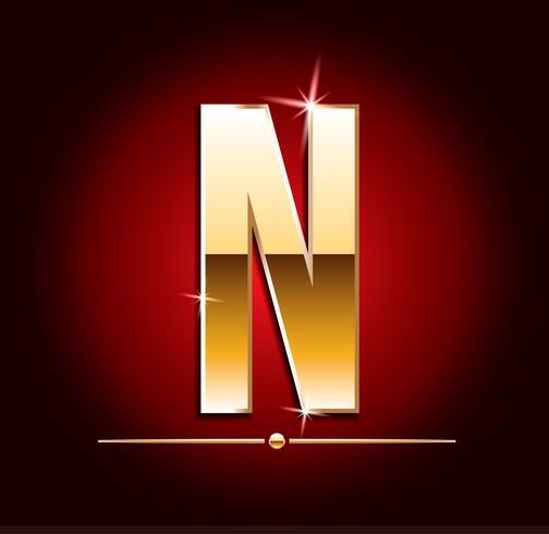 Lettere vettoriali ad effetto oro di alta qualità. Illustrazione vettoriale