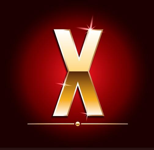 Högkvalitativa guld-effekt vektor bokstäver. Vektor illustration