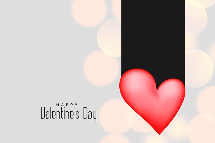 3d rosa hjärta på bokeh bakgrund för valentines dag