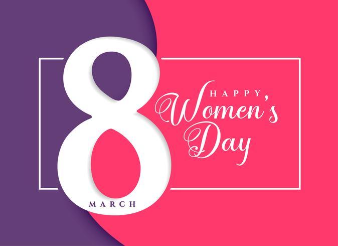 Fondo de celebración de marzo feliz día de la mujer