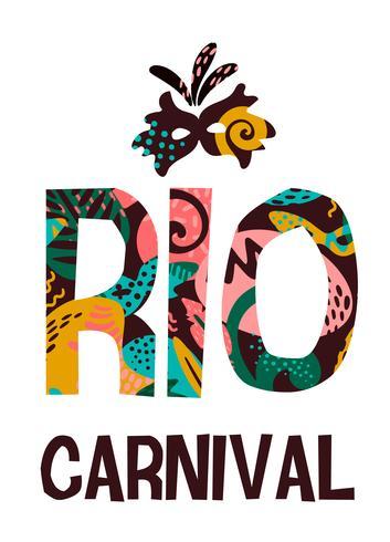 Carnaval do Brasil. Ilustração vetorial com elementos abstratos na moda.