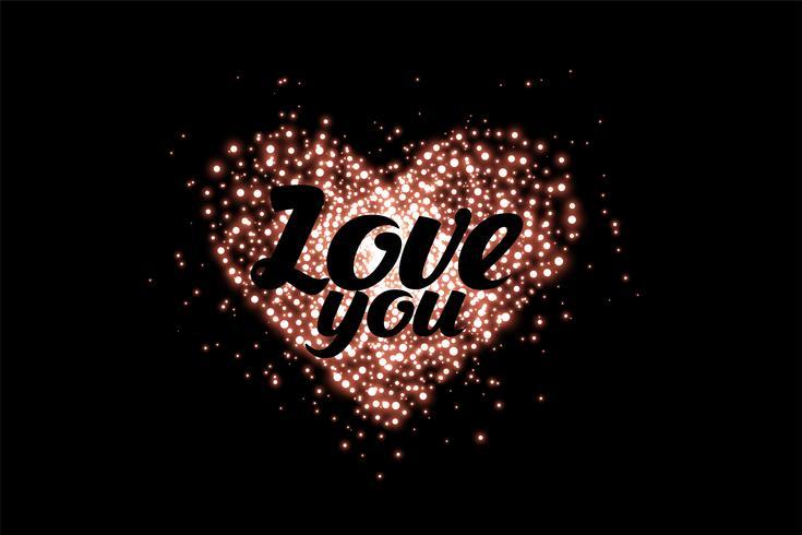glänsande kärlek hjärta gjord med gnistrar