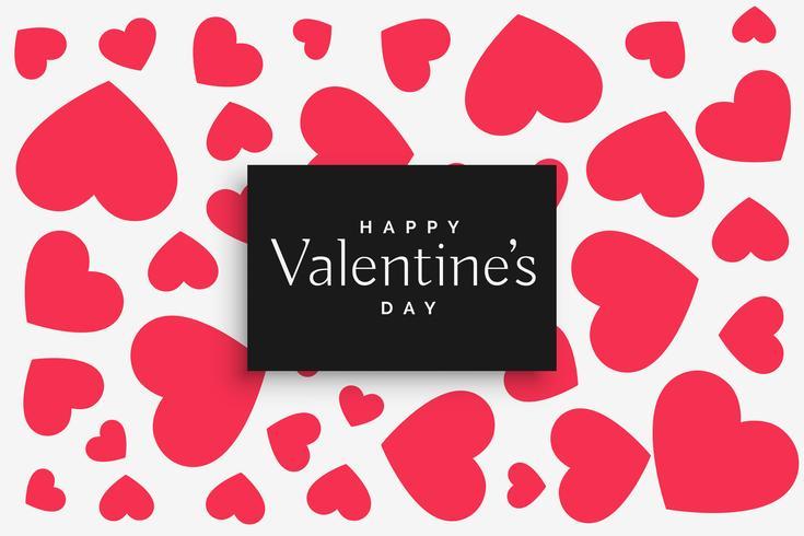 rosa hjärtan mönster för valentin dag