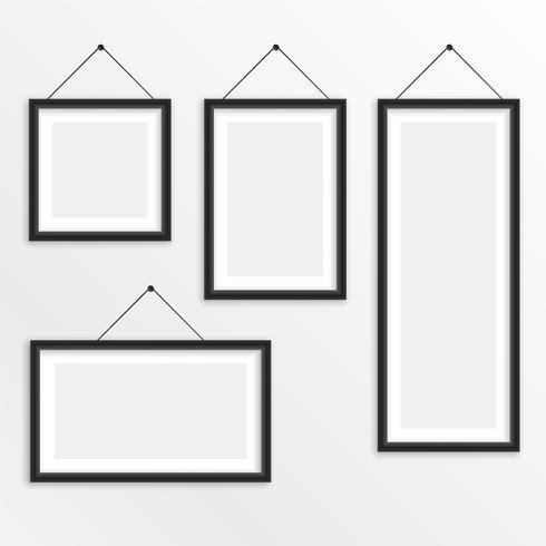 conjunto de diferentes tamaños colgando marco de fotos