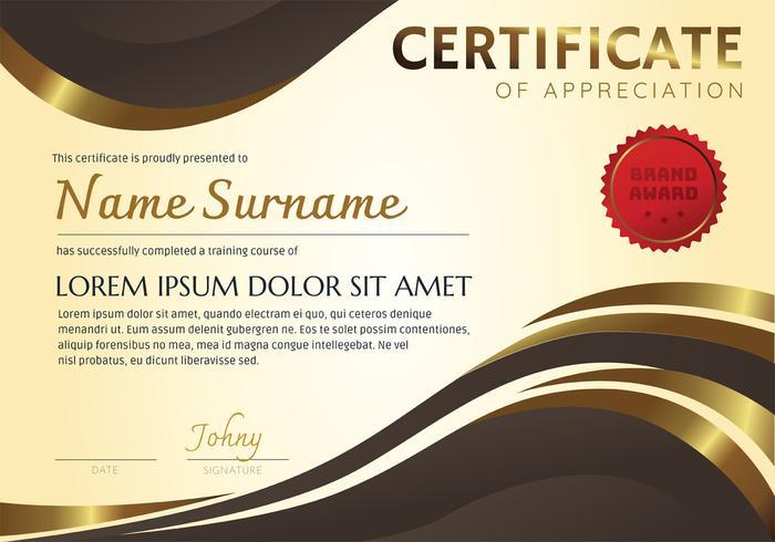 Certificate Template Vector Design