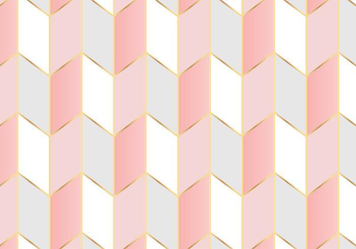 Patrón geométrico de fondo de oro rosa
