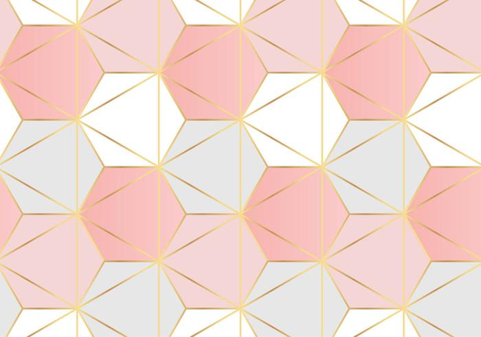 Hexagonal Pattern Rose Gold Background Download Free Vector Art