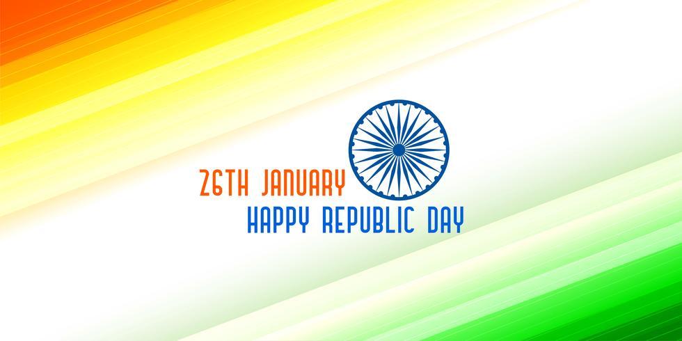 bandera tricolor para el día de la república india