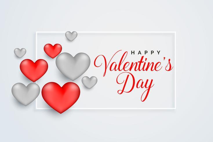 diseño de tarjeta de felicitación de feliz día de San Valentín celebración