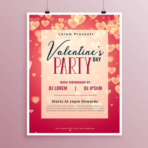 Valentinstag-Party-Poster-Design