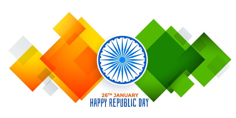 Bandera India geométrica abstracta para el día de la República