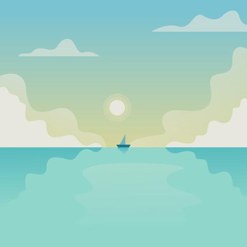 Fondo vector de oceano
