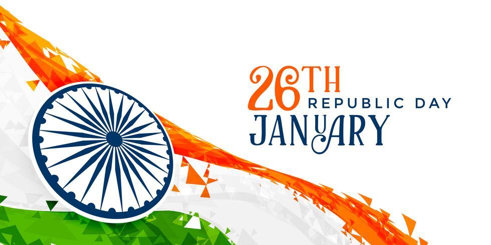 26 de enero diseño de la bandera del día de la República de India