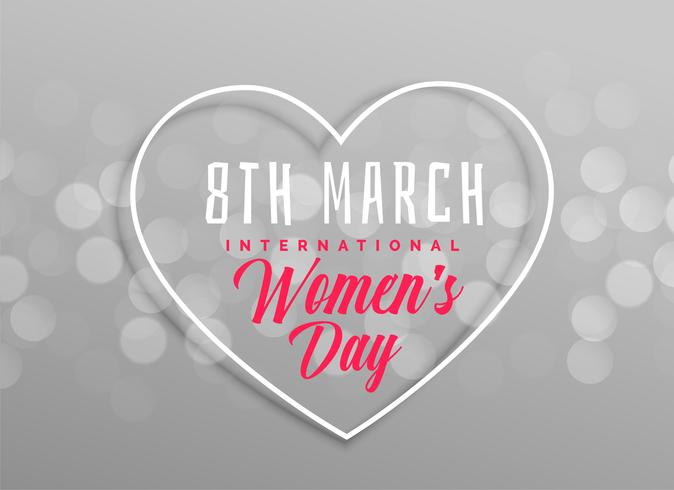 happy women's day heart design on gray background