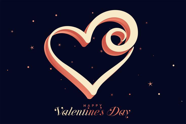 kreativ hjärtformad design för valentinsdag