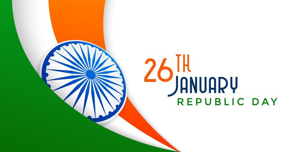 ilustração de bandeira indiana para o dia da República