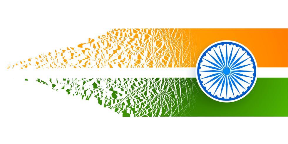 Bandera India diseño abstracto con efecto partícula