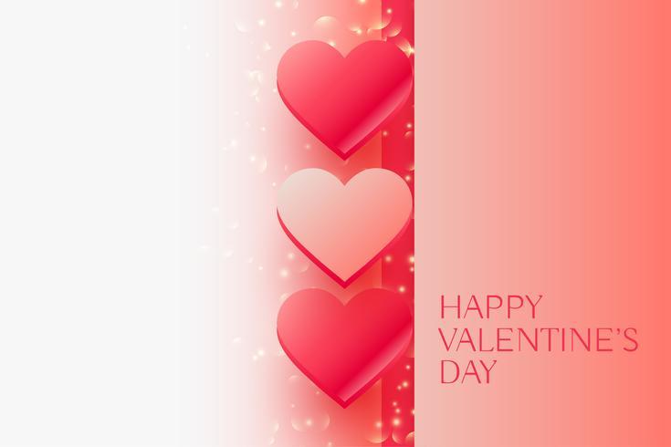 glänzende Valentinstag schöne Herzen mit Platz für Ihren Text