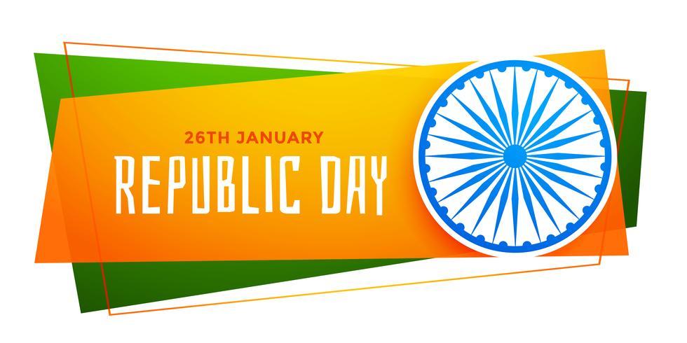 feliz república día bandera india en tricolor