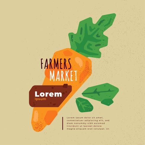 Vector de folleto de mercado de agricultores