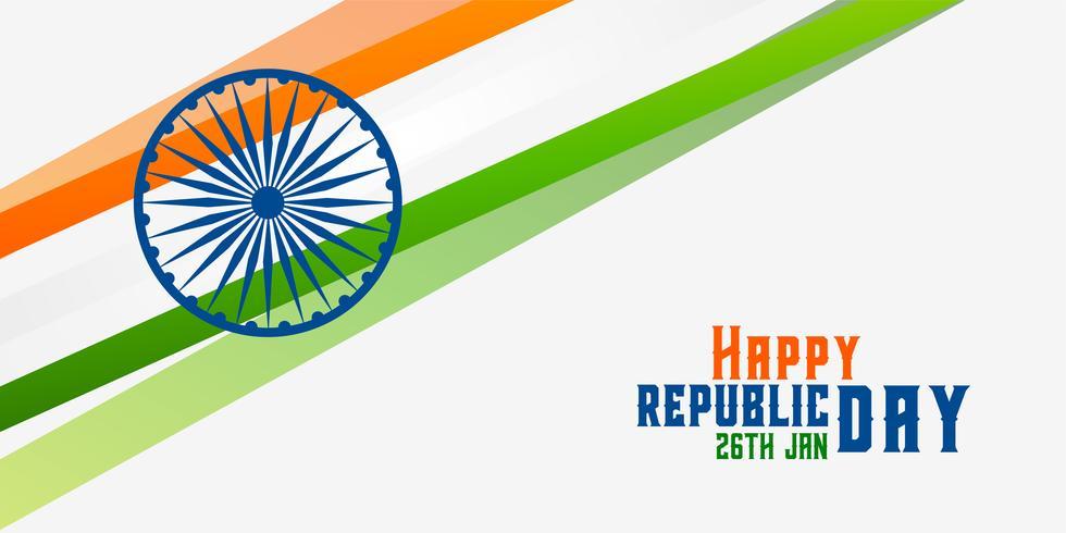 feliz república día bandera india diseño de la bandera