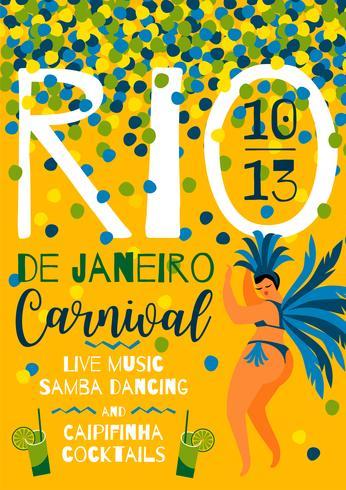 Brazil carnival. Vector template for carnival concept.