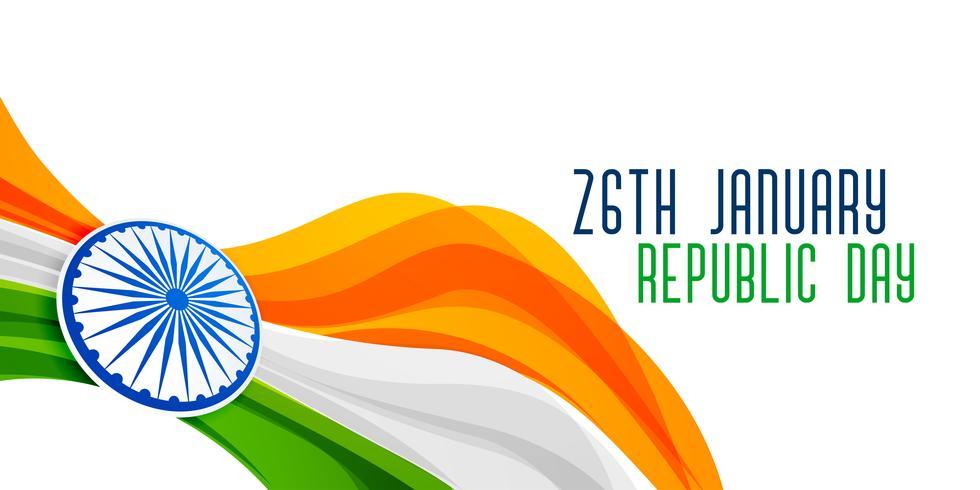 projeto de conceito de bandeira de dia de República indiano