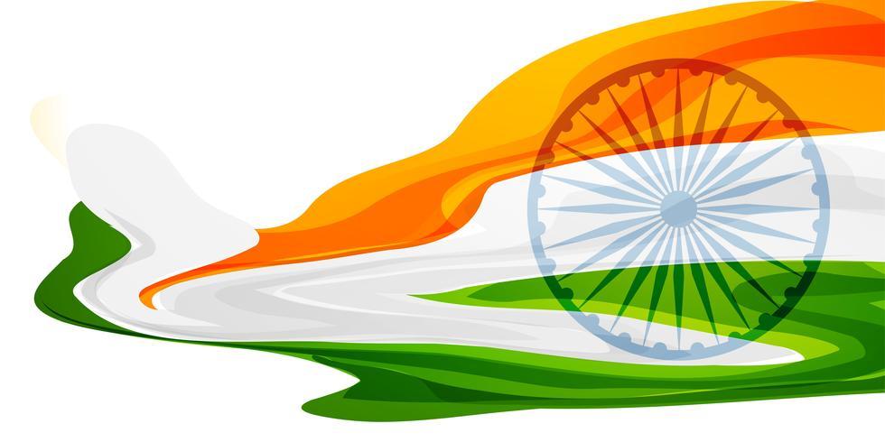 abstrakte indische Flagge Fahnendesign