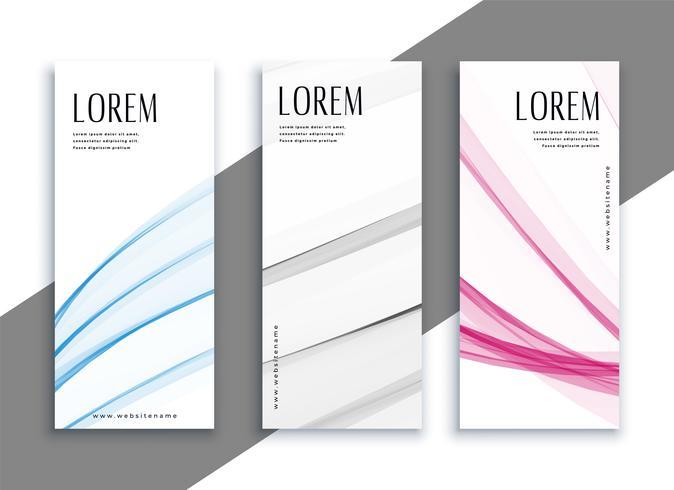 conjunto de banners verticales sutiles abstractos