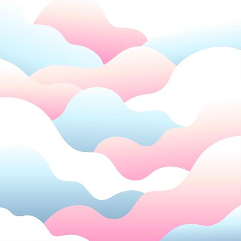 Abstract Cloud Pastel Background Vector