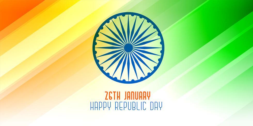 feliz república día 26 de enero brillante bandera