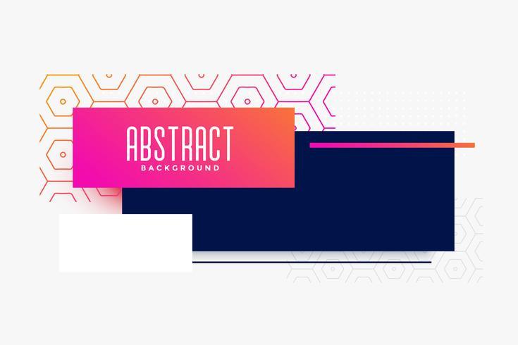 diseño de banner colorido moderno abstracto