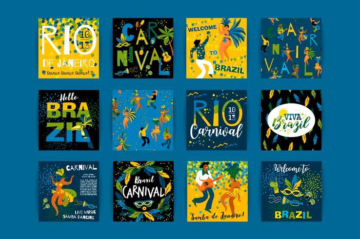 Carnaval van Brazilië. Vector sjablonen voor carnaval concept en andere gebruikers