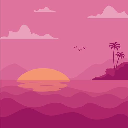 Oceaan illustratie achtergrond vector