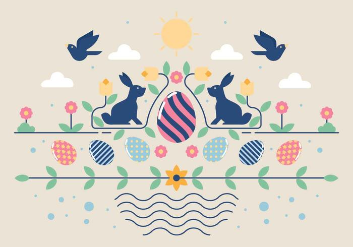 Easter Wallpaper Vector Illustration