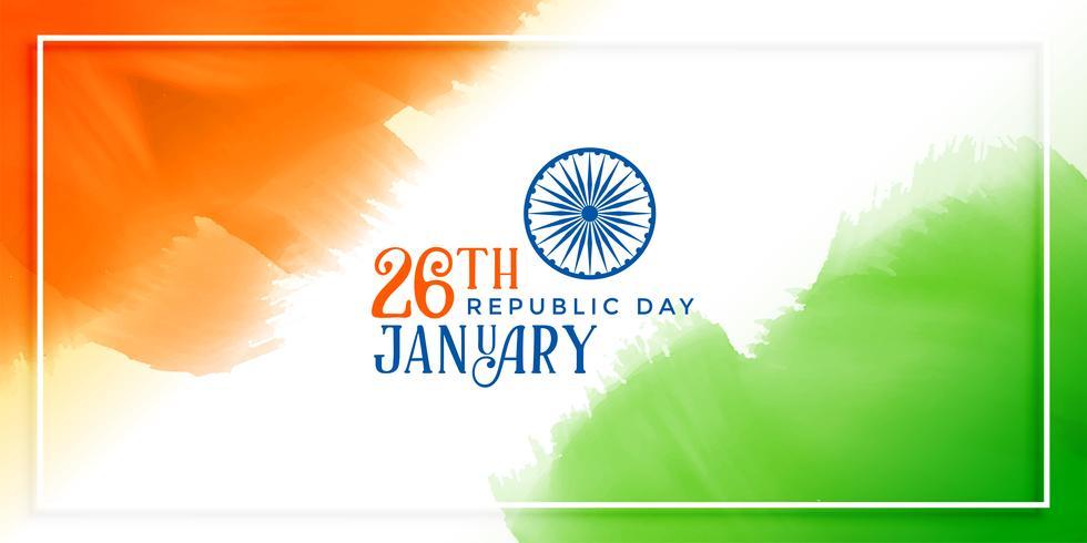 Fondo de concepto de bandera India para el día de la República