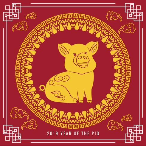 Vector 2019 Chinese New Year - Download Free Vector Art, Stock Graphics & Images