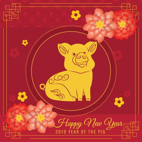 Vector 2019 Chinese New Year Background