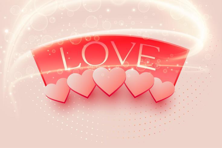 Hermoso fondo de amor con efecto de luz.