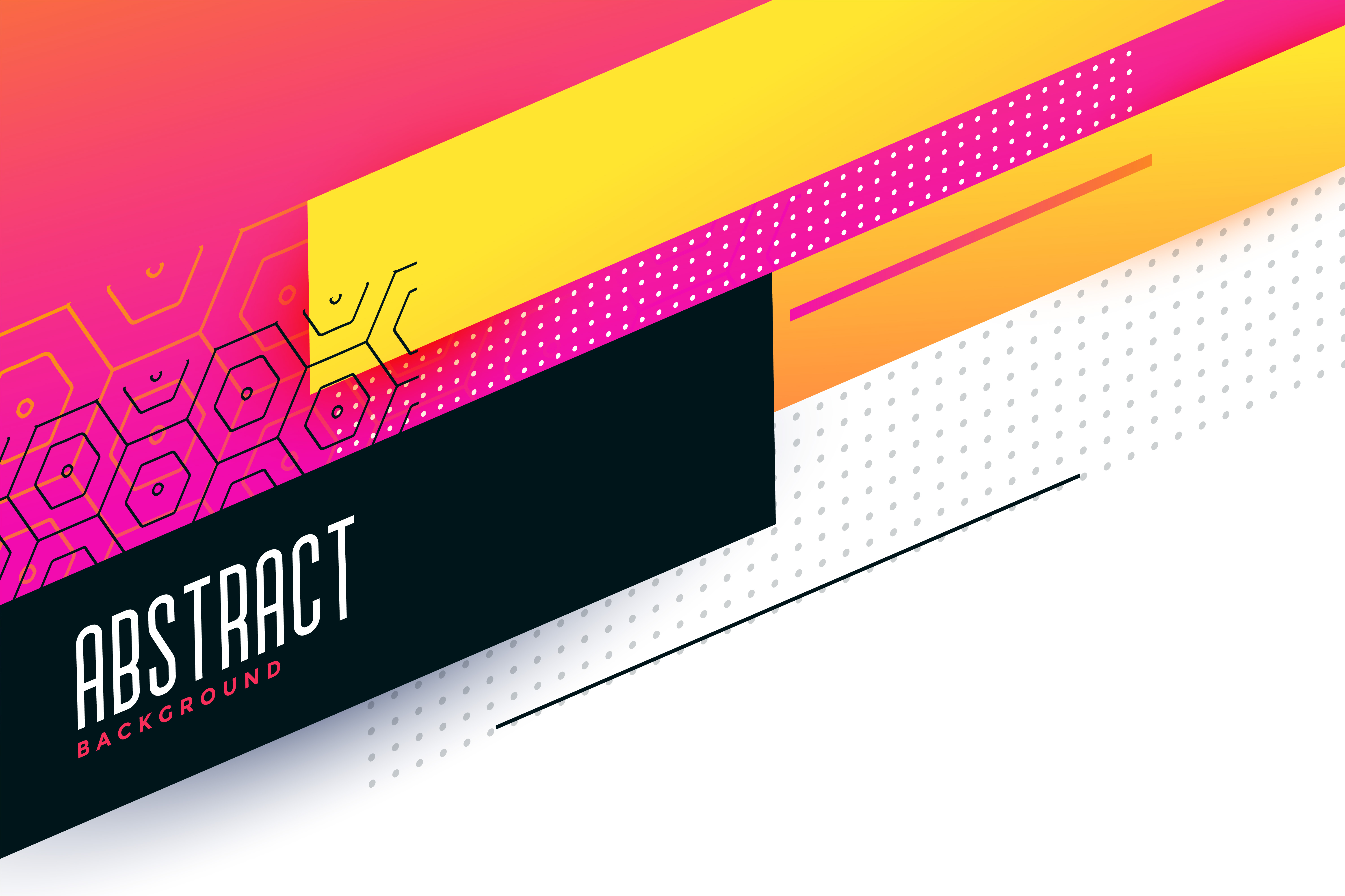 Colorful Abstract Geometric Background Design