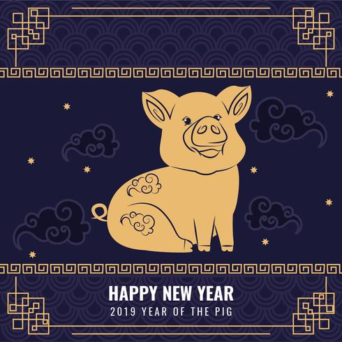 Vector 2019 Chinese New Year Background - Download Free Vector Art, Stock Graphics & Images