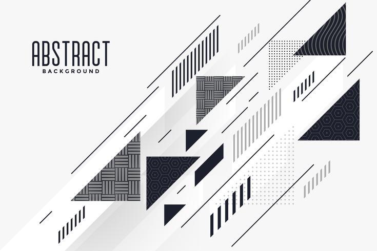 Triángulo abstracto moderno y fondo de composición de líneas