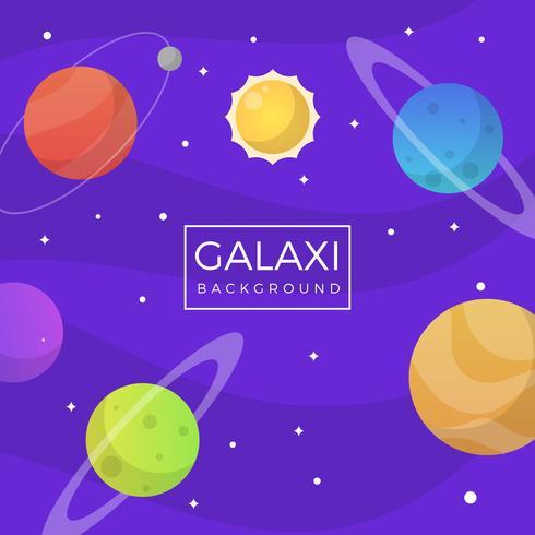 Flat Purple Galaxy Background
