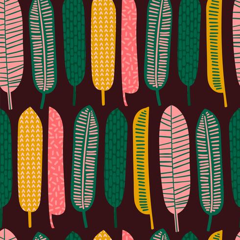 Abstraktes nahtloses Muster mit tropischen Blättern. vektor
