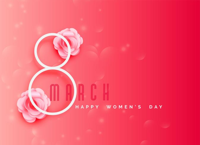 happy women's day celebration background in pink color theme