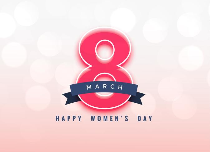 lovely 8th march women's day background design